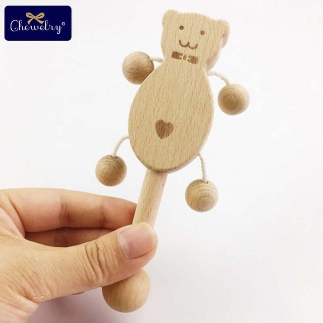 Wood Puzzle Bell Rattles