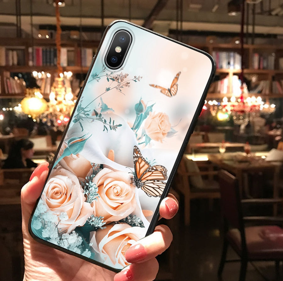 Emboss Flower Case For Samsung Galaxy