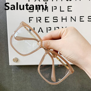 Vintage Oversized Square Clear Lens Glasses