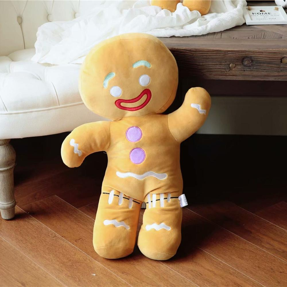 Cute Gingerbread Man Plush Pillow