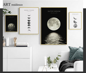Astronomical Canvas Painting