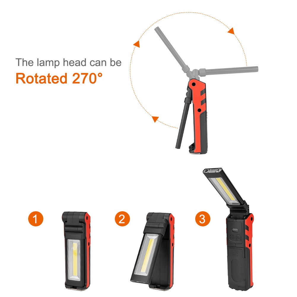 COB Folding Rechargeable Flashlight