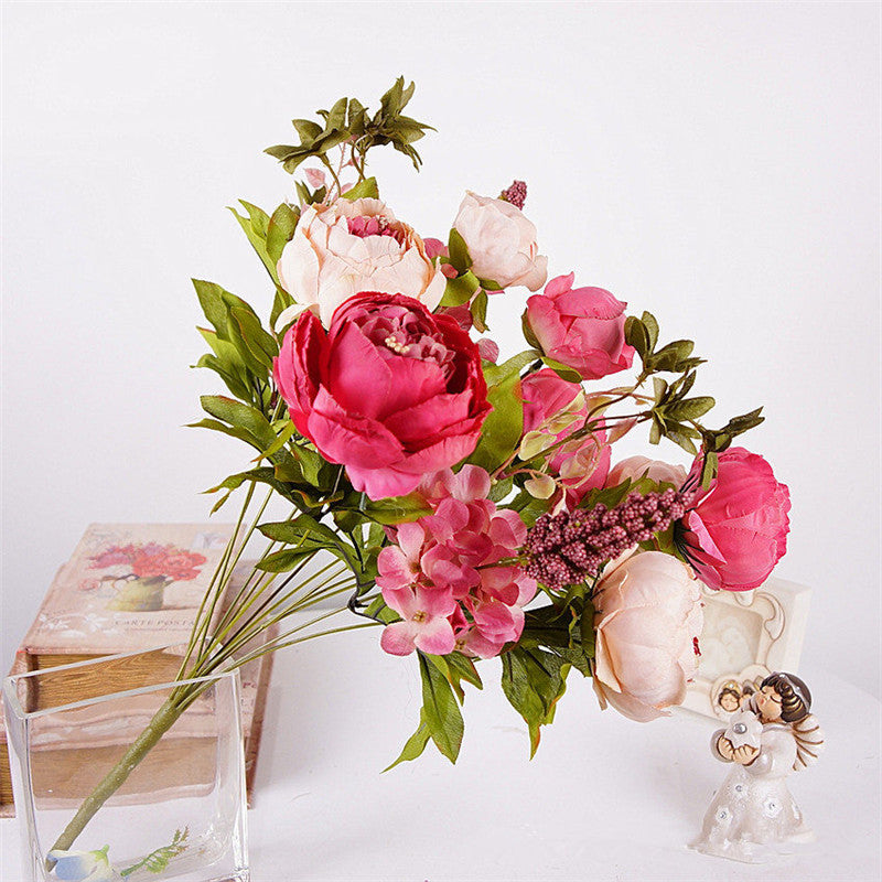 Artificial Peony Decorative Silk Flowers