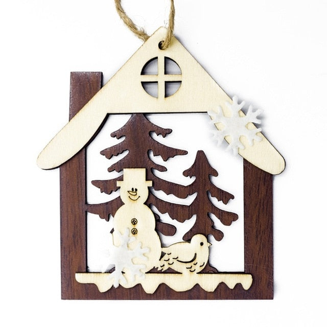3D Christmas Wooden Ornament