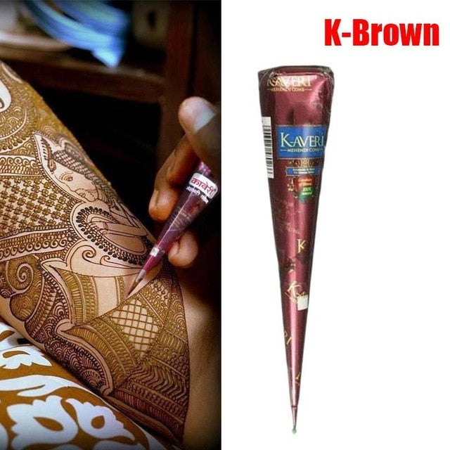 Indian Henna Tattoo Paste Cone