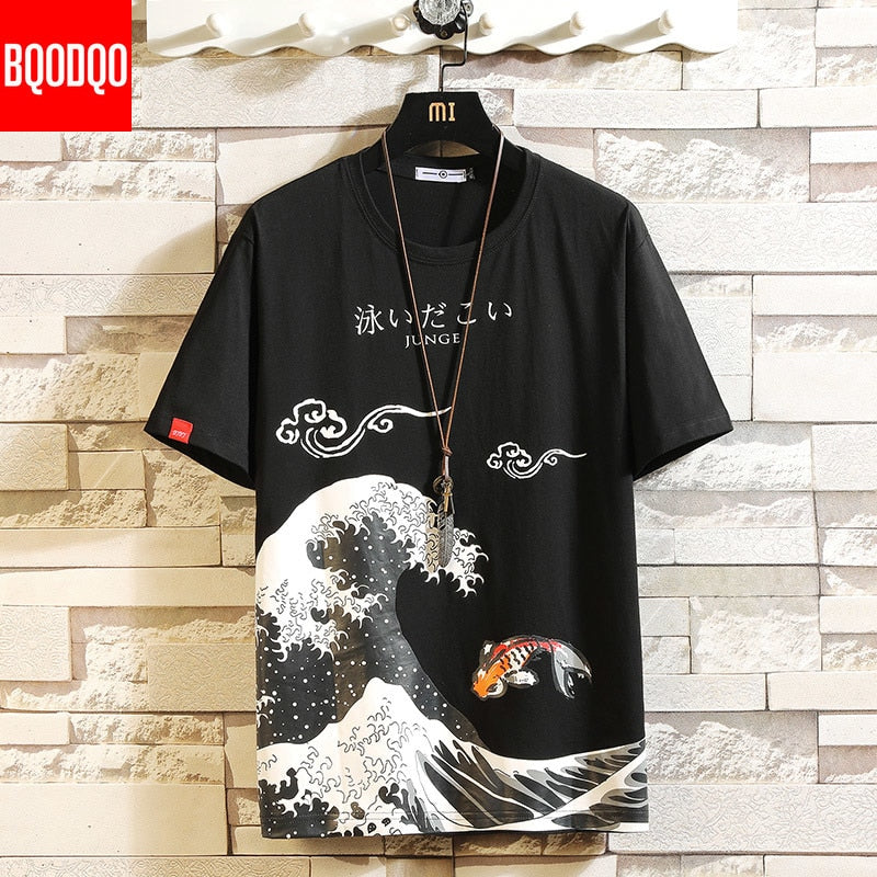 Anime Print Men T Shirt