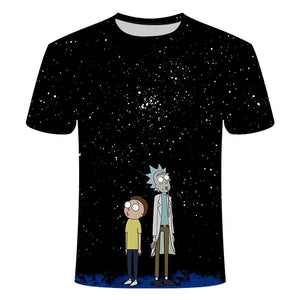 Rick and Morty's Short Sleeve Anime T-shirt