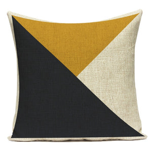Yellow Stripe Home Decorative Pillow Cases