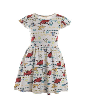 Cute Short Sleeve Kids Dress