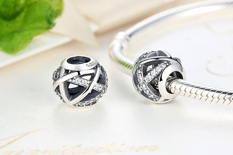 Sterling Silver Winding Hollow Beads