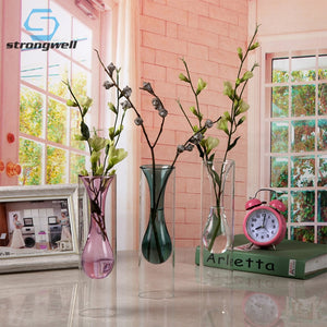 Double-Layer Glass Vase With Inner Knot