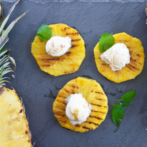 Grillet ananas med is