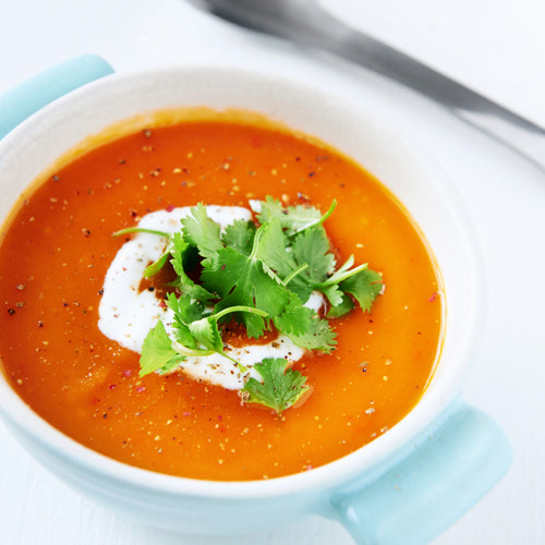 Suppe med sweet potato og tomat