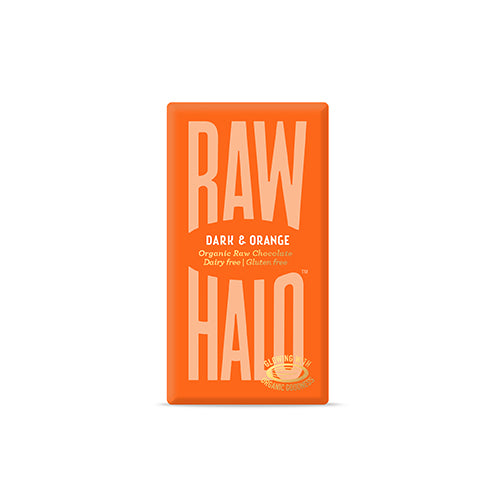 Raw Halo Chokolade, Dark + Sweet Orange, Øko, Raw, 35 gr.