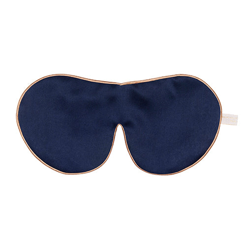 Pure Silk Lavender Eye Mask, Navy - One Strap