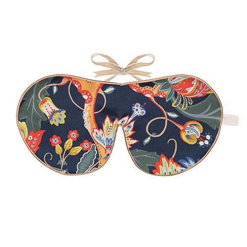Pure Silk Lavender Eye Mask, Weavers Bloom Liberty Print