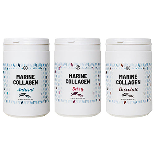 3-pak: Berry + Chocolate + Natural Marine Collagen