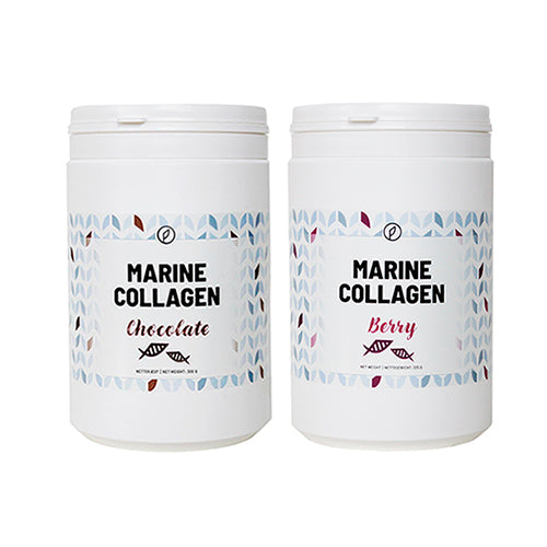 2-pak: Berry + Chocolate Marine Collagen