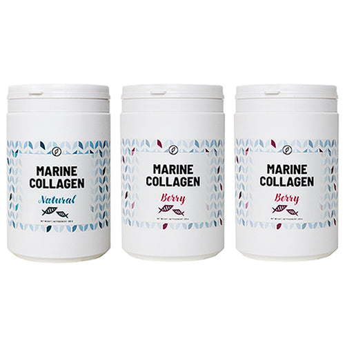 3-pak: Berry + Berry + Natural Marine Collagen