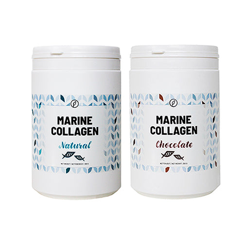2-pak: Chocolate + Natural Marine Collagen