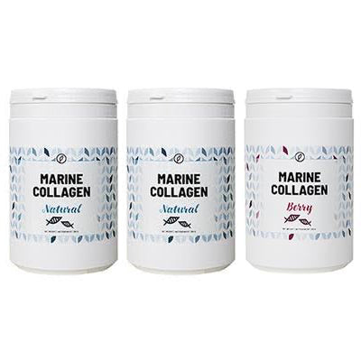 3-pak: Berry + Natural + Natural Marine Collagen