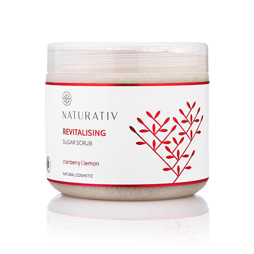 Naturativ Body Sugar Scrub, Revitalising, Øko, 500 ml.