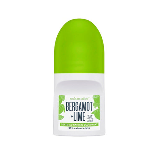 Schmidts Deo Roll-On, Bergamot + Lime, 50 ml.