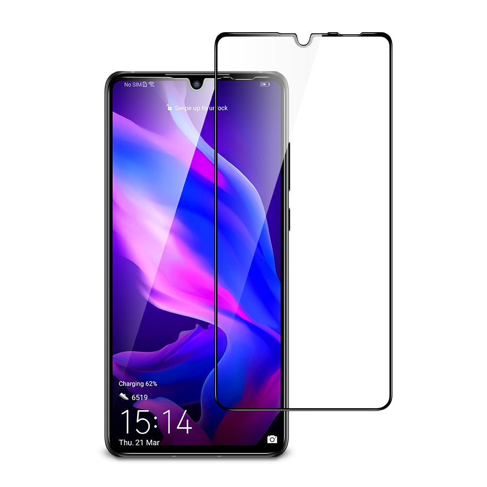 ESR HUAWEI P30 LITE-FULL COVERAGE GLASS FILM-5KG-BLACK (RP)