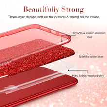Load image into Gallery viewer, ESR MAKE UP GLITTER CASE FOR IPHONE SE 2 (2020) RED (RP)