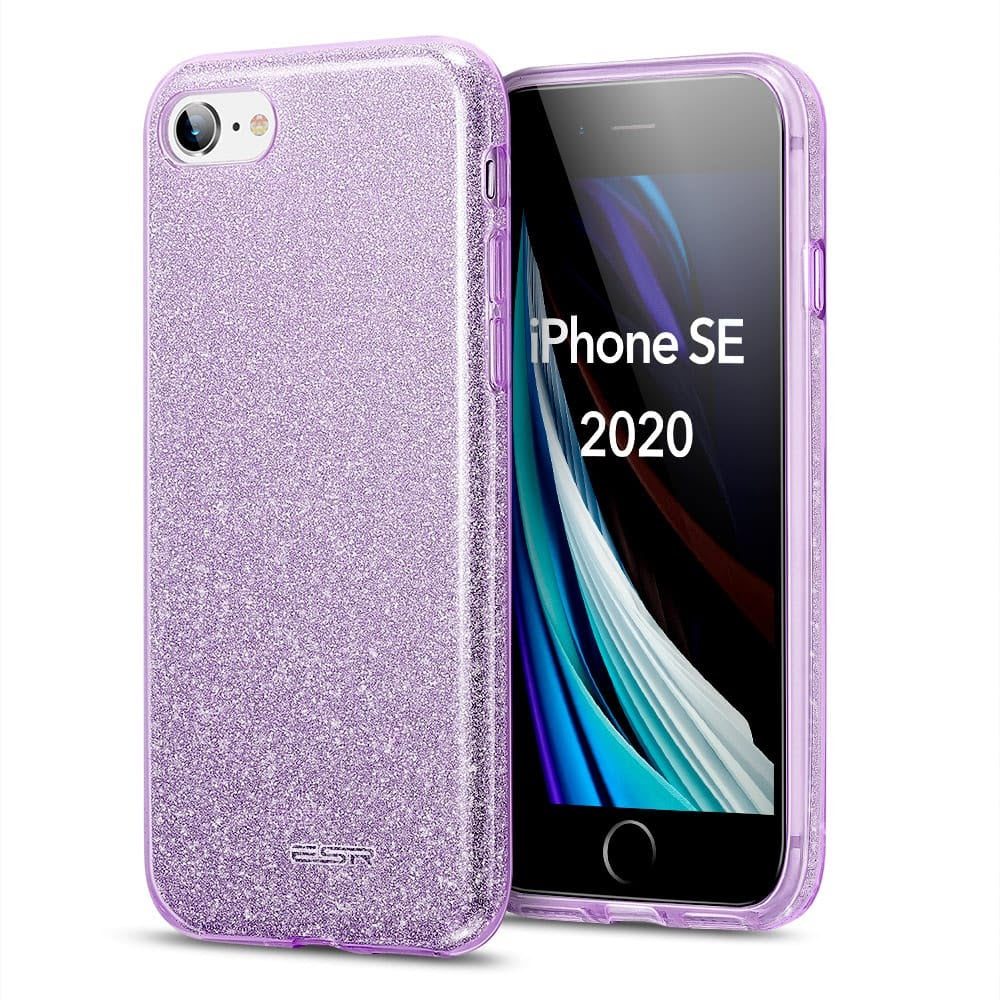 ESR MAKE UP GLITTER CASE FOR IPHONE SE 2 (2020) PURPLE (RP)