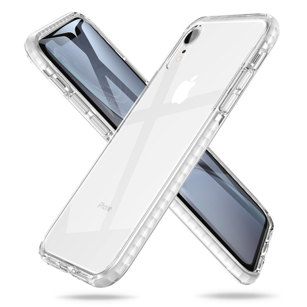 ESR IPHONE XR AIR-GUARD CORNERS AND 9H ANTI-SCRATCH BACK WHITE