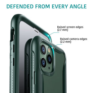 ESR IPHONE 11 PRO MAX HYBRID ARMOR 360 CASE PINE GREEN FRAME (RP)