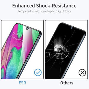 ESR FULL COVERAGE GLASS SCREEN PROTECTOR FOR SAMSUNG A40 BLACK EDGE 2PK (RP)