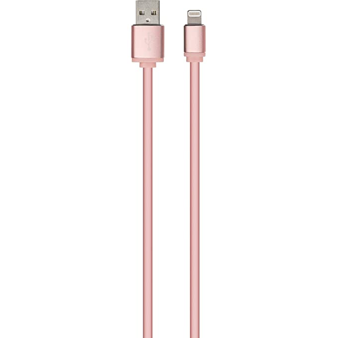 TECPLUS 1M LIGHTNING CABLE ROSE GOLD EAN: 5030578001746 (RP)