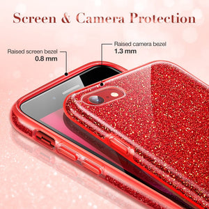 ESR MAKE UP GLITTER CASE FOR IPHONE SE 2 (2020) RED (RP)