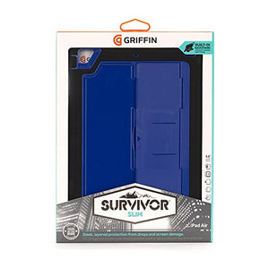 GRIFFIN SURVIVOR SLIM CASE FOR IPAD AIR - BLACK/BLUE (RP)