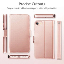 Load image into Gallery viewer, ESR SIMPLICITY WALLET CASE FOR IPHONE SE 2 (2020) ROSE GOLD (RP)