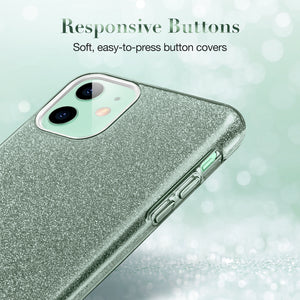 ESR IPHONE 11 MAKEUP GLITTER PINE GREEN (RP)