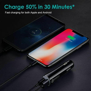 ESR QUICK CHARGE PD IN CAR CHARGER WITH USB-A & USB-C 2PORT 45W 3A BLACK (RP)