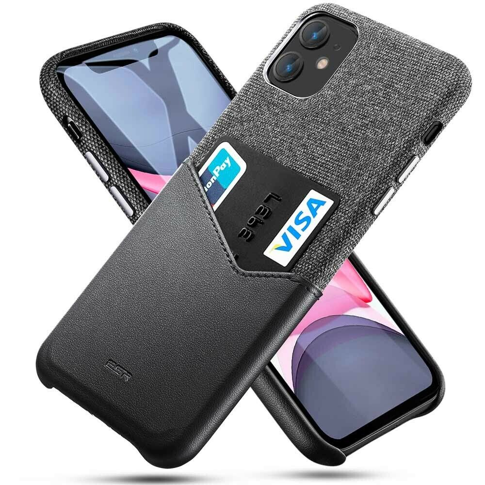 ESR IPHONE 11 METRO WALLET BLACK+BLACK (RP)