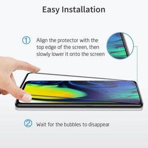 ESR SAMSUNG A50 FULL COVERAGE GLASS FILM - BLACK EDGE 2 PACK (RP)