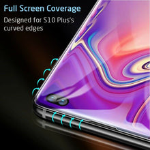 Load image into Gallery viewer, ESR FULL COVERAGE GLASS SCREEN PROTECTOR FOR SAMSUNG S10 PLUS 3D BLACK 2PK (RP)