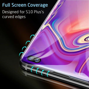 ESR FULL COVERAGE GLASS SCREEN PROTECTOR FOR SAMSUNG S10 PLUS 3D BLACK 2PK (RP)