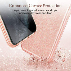 ESR IPHONE 11 MAKE UP GLITTER CASE CORAL (RP)