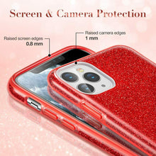 Load image into Gallery viewer, ESR IPHONE 11 PRO MAKE UP GLITTER CASE RED (RP)