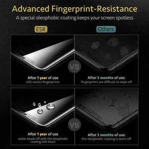 ESR IPHONE XS/X FULL COVERAGE TEMPERED GLASS - BLACK X000QFV3H1 (RP)