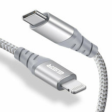 Load image into Gallery viewer, ESR USB-C TO LIGHTNING PD CABLE 1M BRAIDED SILVER 4894240075029 (RP)