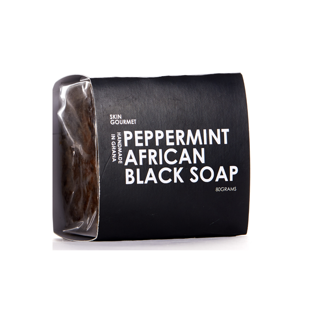Peppermint African Black Soap - SKIN GOURMET