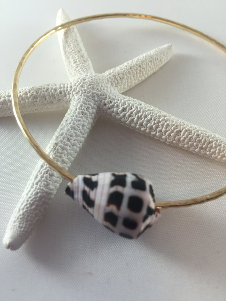 14 gauge Zebra Cone Bangle