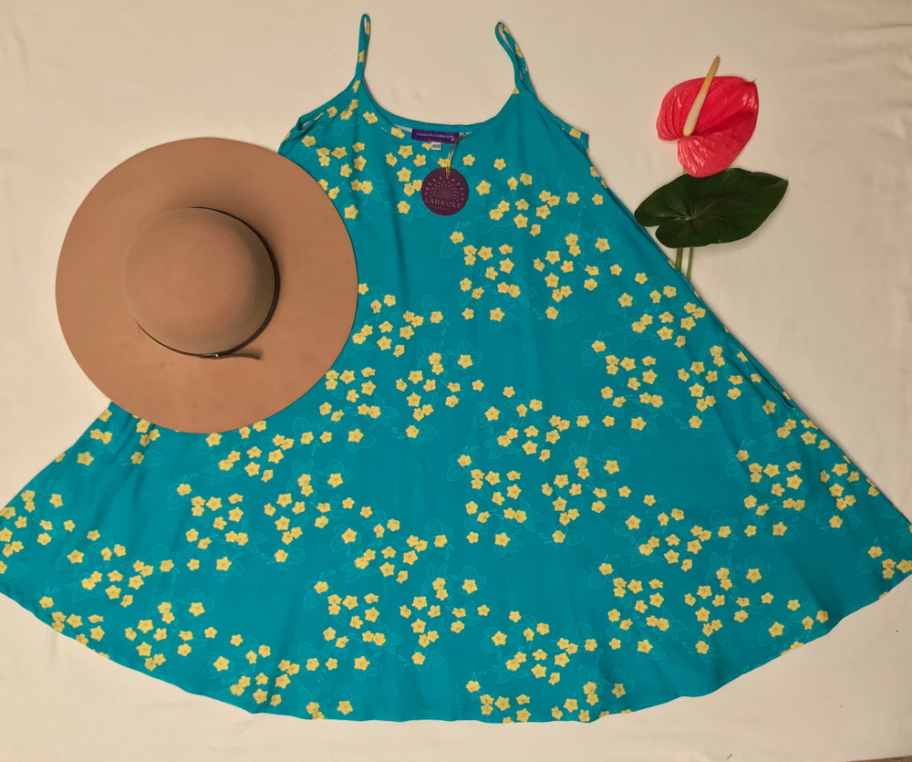 Noelani Dress-Teal 'Īlima
